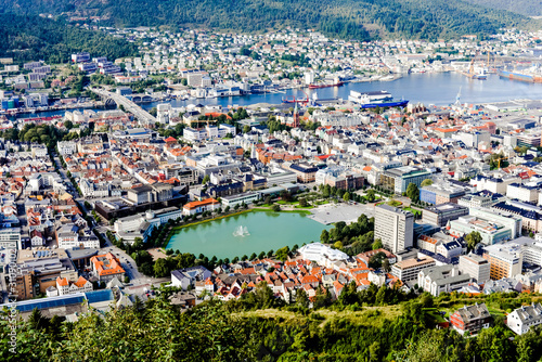 magnificent view of the port of Bergen in Norway Canvas-taulu