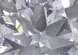 Fototapeta Kamienie - diamond structure extreme closeup and kaleidoscope. top view of round gemstone 3d render, 3d illustration