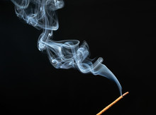 Burning Incense Stick With Smo...