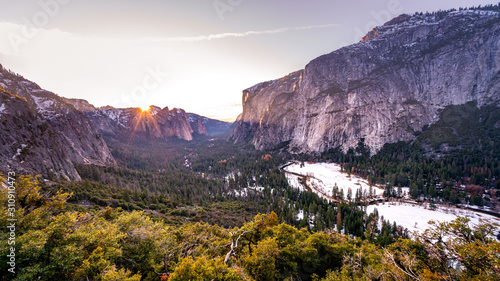 Yosemite Valley Sunset Canvas Print