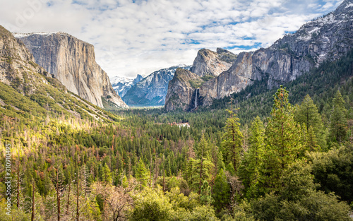 Tunnel View Yosemite National Park Valley Wallpaper Mural