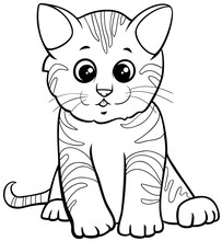 Cute Kitten Cartoon Character ...