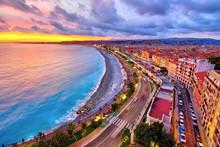 Impressive Sunset View Of Nice...