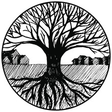 Landscape Tree In A Circle. A ...