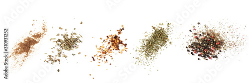 Tela Set cinnamon powder, basil, ground dry chili pepper, parsley, colorful pepper gr