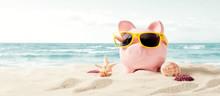 Piggy Bank On Vacation. Financ...