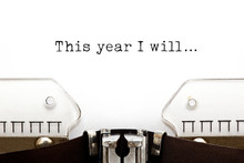 This Year I Will Typewriter Concept