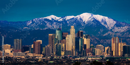 FEBRUARY 6, 2019 - LOS ANGELES, CA, USA - City of Angeles - Los Angeles Skylin Wallpaper Mural
