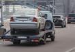 car tow truck transports a car