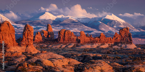 FEBRUARY 15, 2019 -  ARCHES NATIONAL PARK, UTAH , USA - Arches National Park, Ut Fototapete