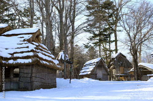 北海道 冬のアイヌの村 Canvas Print