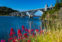 MAY 31, GOLD BEACH, OR, USA - Isaac Lee Patterson Bridge, Also Known As The Rogue River Bridge Gold Beach, Oregon