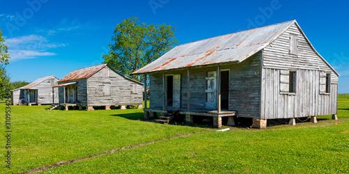 Photo APRIL 27, 2019 - LOUISIANA, USA - Old Slave Cabins on St