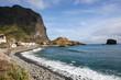 The beautiful coast of the Atlantic ocean on Madeira