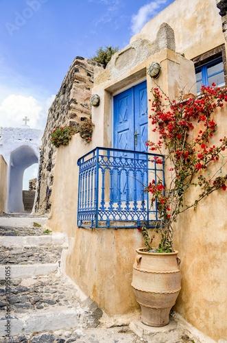 Fototapeta Greek lane, Santorini obraz