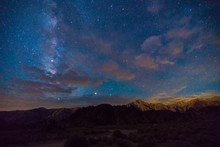 Milky Way Over The Alabama Hills And Mount Whitney, California