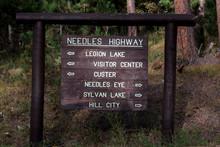 Needles Hifghwy Roadsignm South Dakota