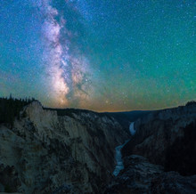 Milky Way Over Yellowstone National Park