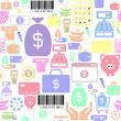 payment seamless pattern background icon.