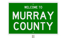 Rendering Of A Green 3d Highway Sign For Murray County