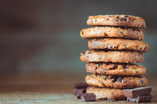 Chocolate Chips Cookies With C...