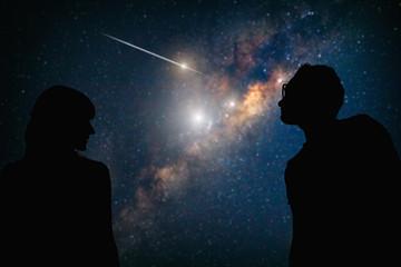 Couple under the Milky way stars. My astronomy work.