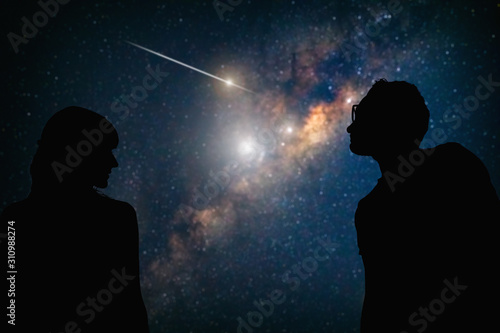 Couple under the Milky way stars. My astronomy work.