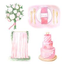Watercolor Romantic Style Wedd...