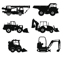 Construction Vehicles, Flat Is...