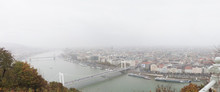 Panorama Of Budapest In Fog