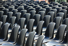 Black Chairs Outdoor Row
