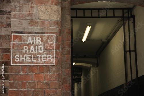 Old Air Raid Shelter in Hong Kong Wallpaper Mural