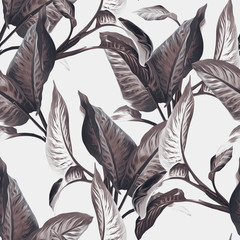 FototapetaLeaves Seamless Pattern. Artistic Background.