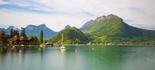 Annecy Lake In The French Alps