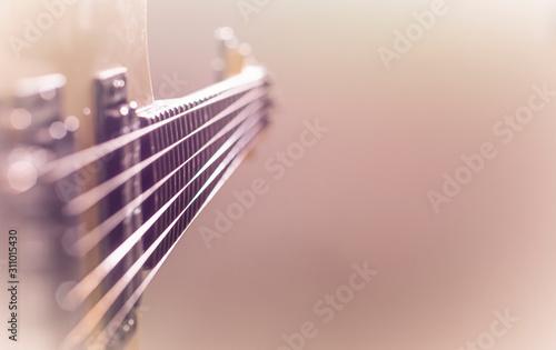 Electric guitar stratocaster sunburst closeup, macro abstract Wallpaper Mural