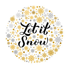 Let Is Snow Calligraphy Hand L...