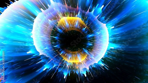 Red ring. Glow spiral. Energy flow tunnel. Shine round light circles. .Light effect. Glowing cover. Space for message. Light sphere. .Atom power. Neon disc. Vivid lines. Astral fluids. Big bang.