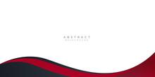 Modern Black Red Abstract Wave Curved Background For Presentation Design