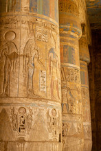 Beautiful Columns With Hierogl...