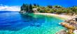 Leinwanddruck Bild - Paxos island with beautiful deserted beaches - Levrechio. Ionian islands of Greece