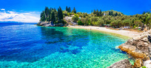 Paxos Island With Beautiful Deserted Beaches - Levrechio. Ionian Islands Of Greece