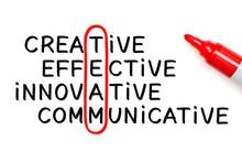 Handwritten Team Crossword Red Marker Concept