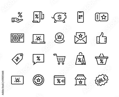 Cuadros en Lienzo Loyalty line icons