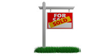 Sold For Sale Sign Isolated Ag...