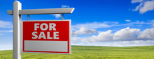 Land For Sale Wooden Placard I...