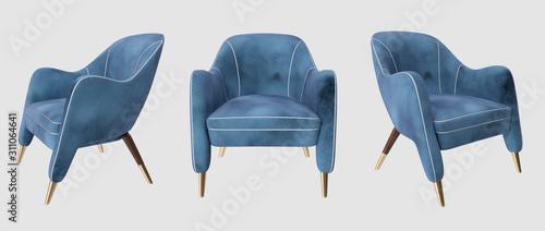Cuadros en Lienzo  Polygonal realistic chair