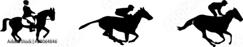 Fotografía  horsemen icon isolated on white background