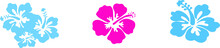 Hibiscus Icon Isolated On Back...