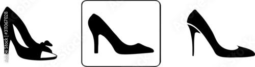 Fotografia woman shoes icon isolated on white background