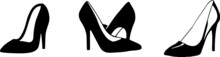 Woman Shoes Icon Isolated On W...
